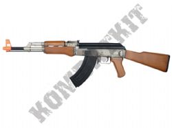 Kalashikov AK47 Electric Airsoft Machine Gun Black and Smoked Official Model